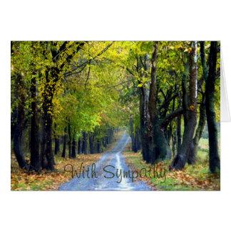 Tree-Lined Gravel Road Condolence Card