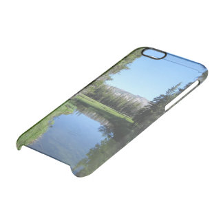 Tree-Lined River Meadow with Mountain Vista Photo Clear iPhone 6/6S Case