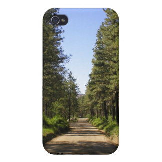 "Tree lined road ""follow the dream"" iPhone 4 case"