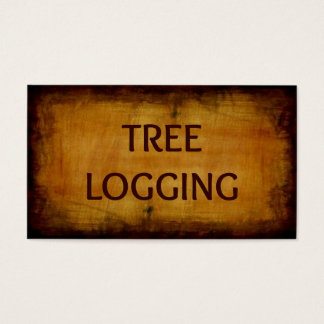 Tree Logging Antique Business Card