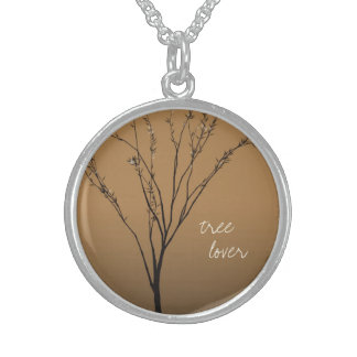 """tree lover""  Brown Tree Art necklace"
