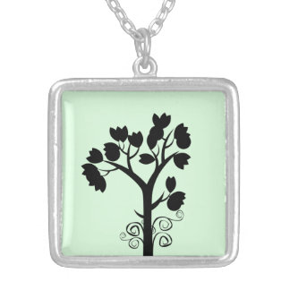Tree Lover Square Necklace