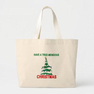 Tree-Mendous Christmas Jumbo Tote Bag