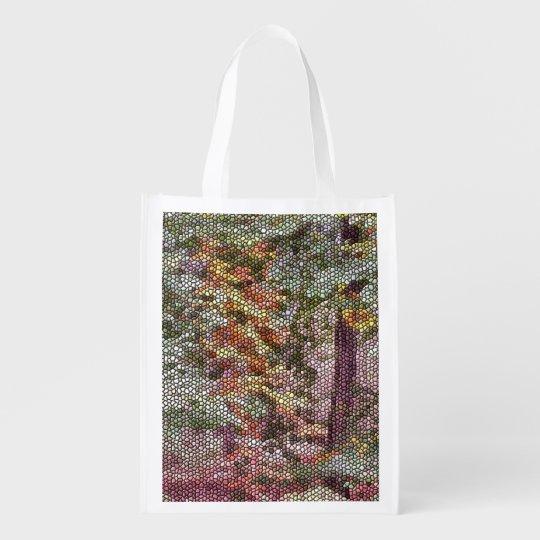 TREE MOSAIC REUSABLE GROCERY BAG