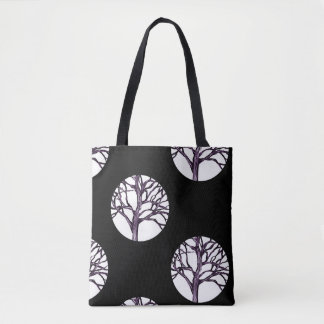 Tree Nature Spirituality Silhouette Witchy Gothic Tote Bag
