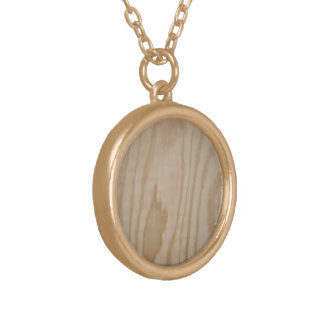 Tree necklace, bare wood round pendant necklace
