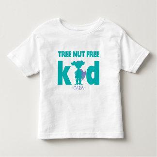 Tree Nut Free Allergy Alert Girl Superhero Shirt