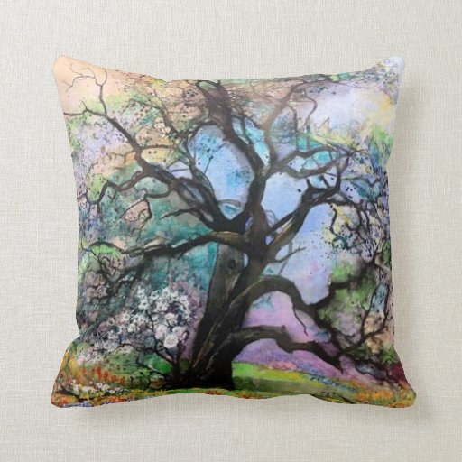 Tree Of Color American MoJo Pillow