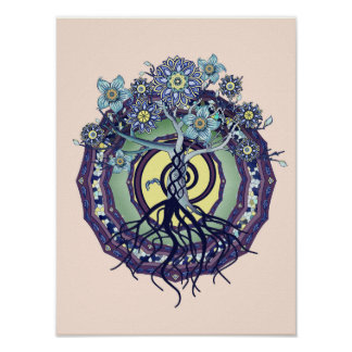 Tree of Enlightenment Abstract Poster Print