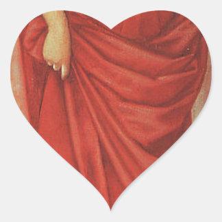Tree Of Forgiveness by Edward Burne-Jones Heart Sticker