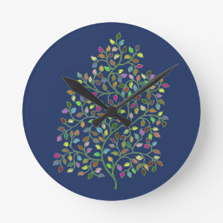 Tree of Fortune Round Clock