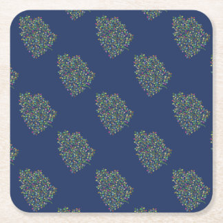 Tree of Fortune Square Paper Coaster