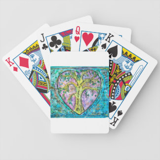 Tree of growth bicycle playing cards