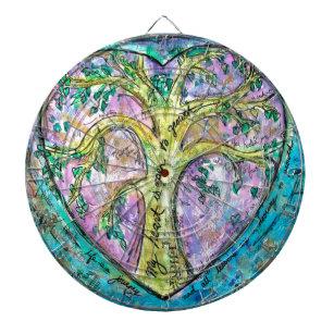 Tree of growth dartboard