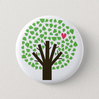 Tree of Hearts 6 Cm Round Badge
