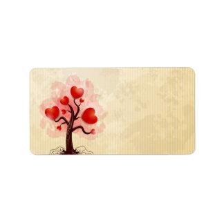 Tree of Hearts Address Label