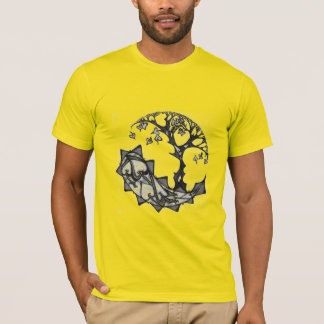 Tree of Hearts in B&W T-Shirt