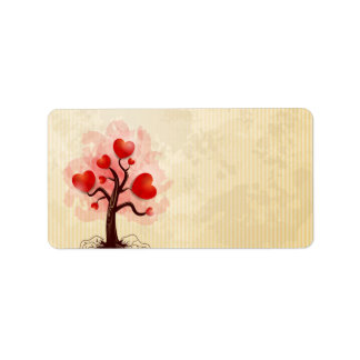Tree of Hearts Label
