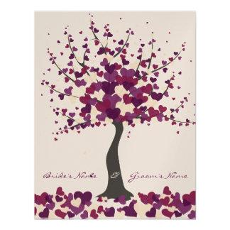 Tree Of Hearts - Purple Wedding Invitation
