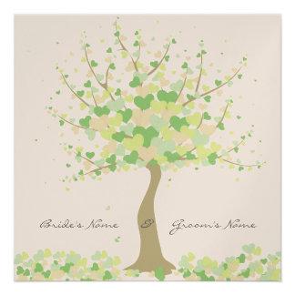 Tree Of Hearts - Spring Summer Wedding Invitation