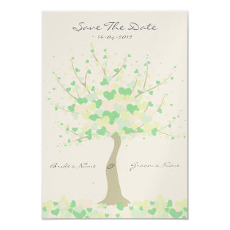 Tree Of Hearts Spring/Summer Wedding Save The Date Card