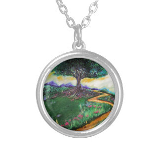 Tree Of Imagination Silver Plated Necklace