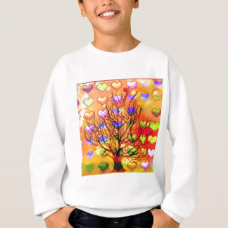 Tree of joy with multiple hearth sweatshirt