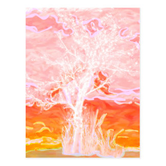 Tree of Life - Abstract Peaceful Tree Postcard
