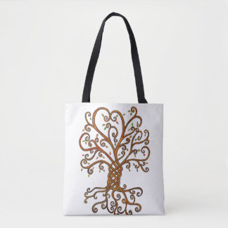 Tree of Life all-over print tote