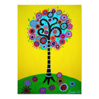 TREE OF LIFE BAR BAT MITZVAH CARD