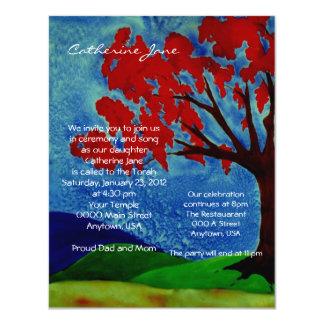 Tree of Life Bat Mitzvah invitation