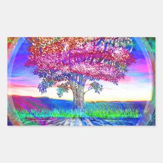 Tree of Life Blessings Rectangular Sticker