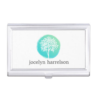 Tree of Life Blue/Green Business Card Holder