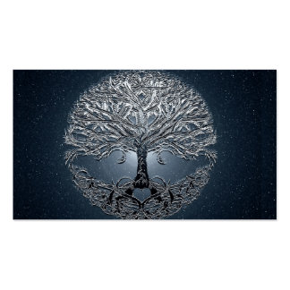 Tree of Life Blue Sky Peaceful Night Business Card Templates