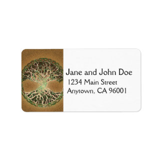 Tree of Life Brown Address Label