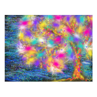 Tree of Life by Blue Sea Abstract Art Design Postcard