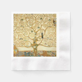 Tree of Life by Gustav Klimt Disposable Serviettes