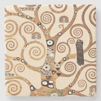 Tree of Life by Gustav Klimt Stone Beverage Coaster