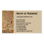 Tree of Life by Klimt, Stylised Art Nouveau Symbol Pack Of Standard Business Cards