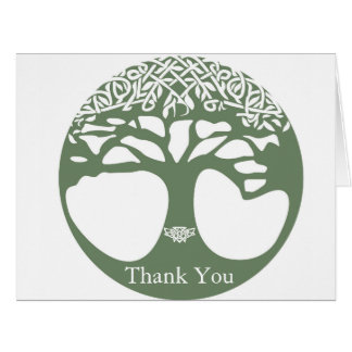 Tree of Life Celtic Knot Greeting Card Med Green