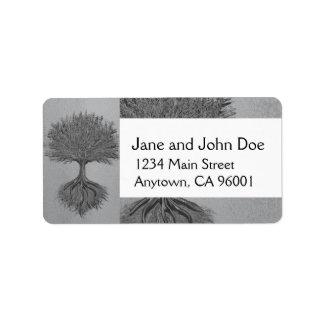 Tree of Life Chrome 2 Address Label