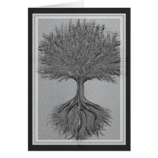 Tree of Life Chrome 2 Greeting Card
