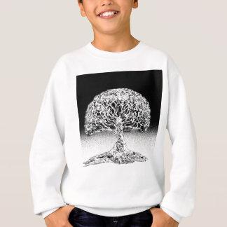 Tree of Life Coral Reef Black and White Sweatshirt