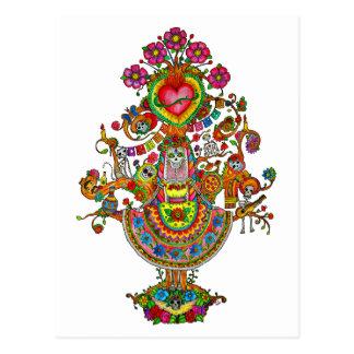 Tree of Life Dia de Muertos Postcard