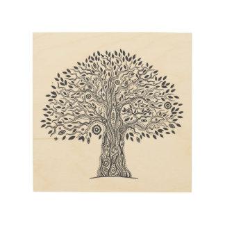 Tree Of Life Doodle 5 Wood Print