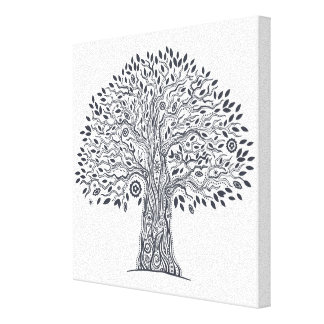 Tree Of Life Doodle 6 Gallery Wrap Canvas