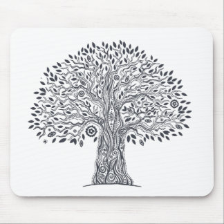 Tree Of Life Doodle Mouse Pad
