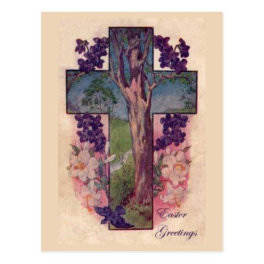 Tree Of Life Easter Vintage Christian Postcard