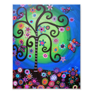 Tree of Life Flowers Painting Art Photo