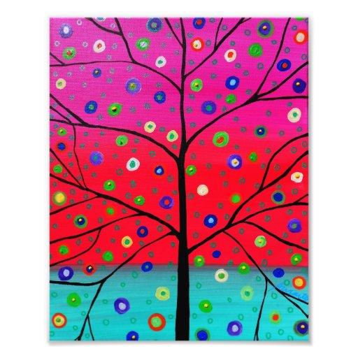 Tree of Life Flowers Painting Photo